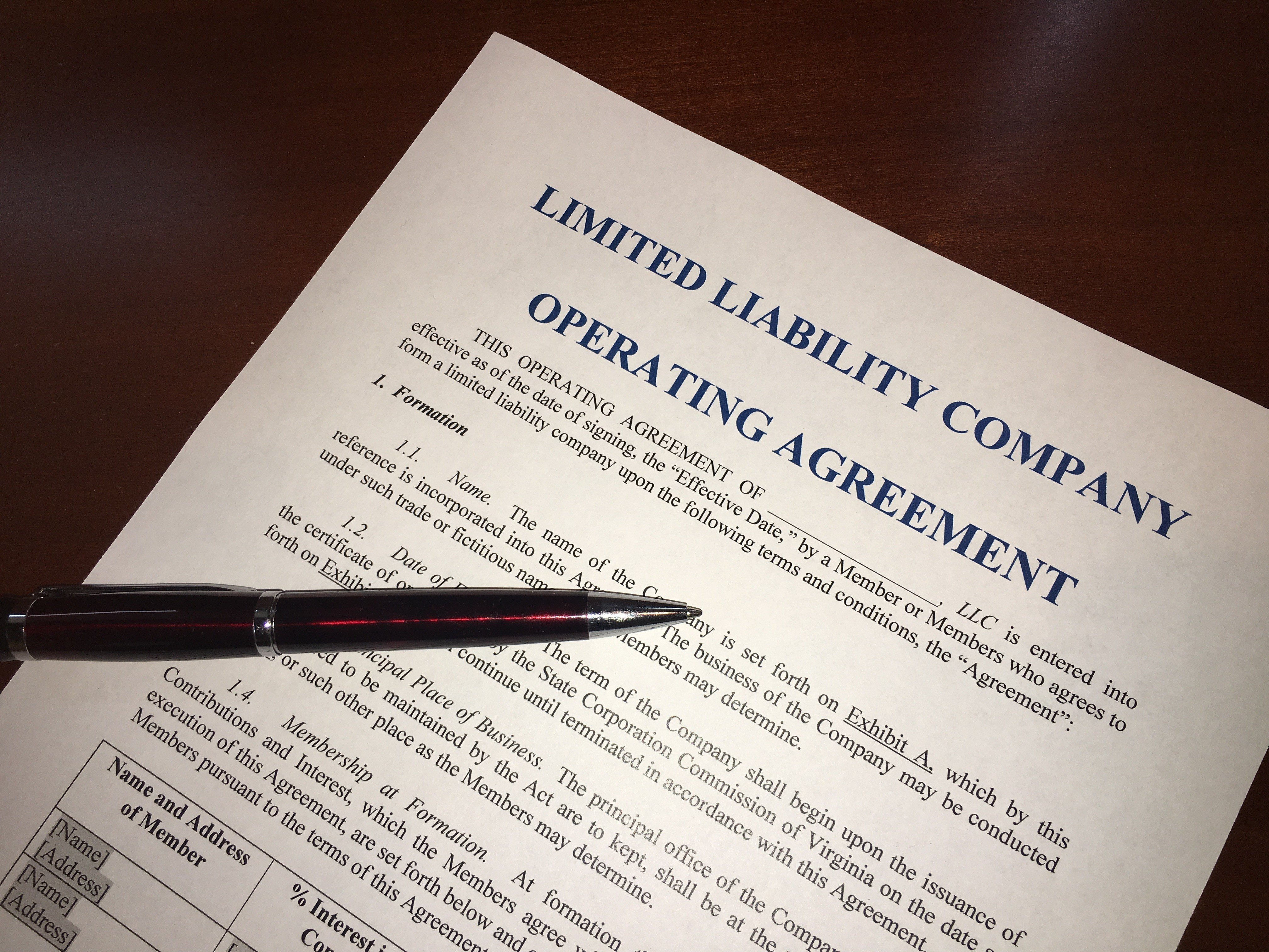 An Llc Operating Agreement Essential To Success Dunlap Law