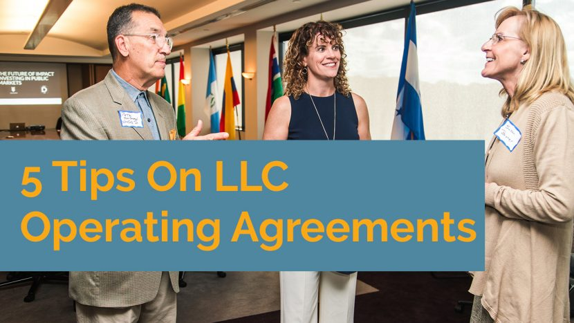 LLC operating Agreements
