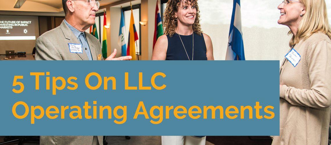 LLC operating Agreements
